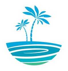Island logo vector