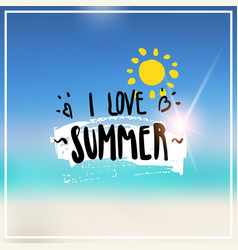 love summer blurred sea bokeh beach background vector image