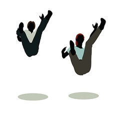 man and woman silhouette in Still Pose Falling vector image