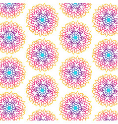 mandala seamless pattern for backgrounds vector image