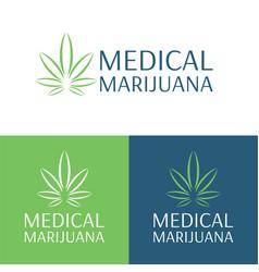 Medical marijuana logo and icon 3 vector