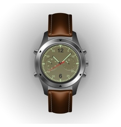 Military watch isolated on a white background vector image