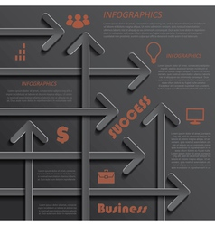 Modern template infographics design for business vector image