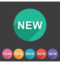New badge flat icon sign set symbol vector image