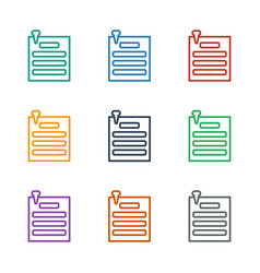 Paper pin icon white background vector