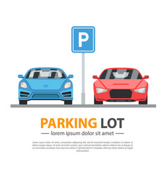parking lot mockup vector image