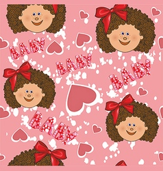 Pattern for a girl on a pink background vector