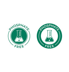 Phosphate free icon chemical test tube seal vector