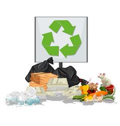 Pile rubbish scene vector