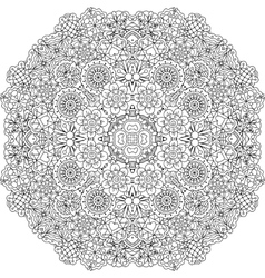 Pretty geometric floral designs on white vector image