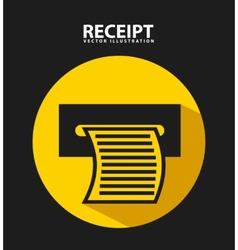 Receipt print vector
