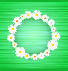 round floral frame with lights effect on vector image