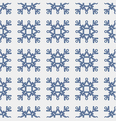 seamless pattern of geometric snowflake square vector image