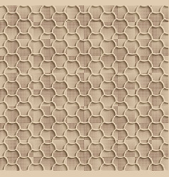seamless web hexagon pattern beige tile surface vector image