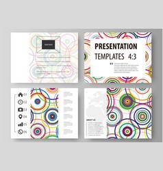 Set of business templates for presentation slides vector