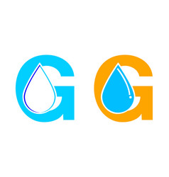 set of letter g water drop logo icon design vector image
