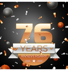 Seventy six years anniversary celebration vector image