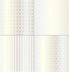 Silver geometrics vector