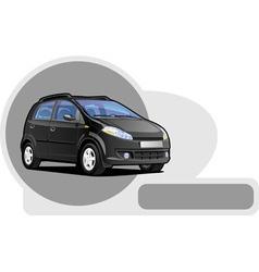 Small utilitie car vector