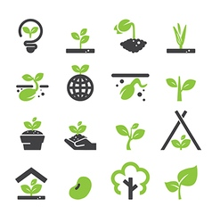 Sprout icon set vector
