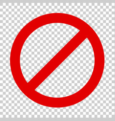 stop sign icon in flat style danger symbol on vector image