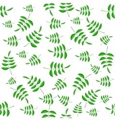 Summer Green Leaves Seamless Pattern vector