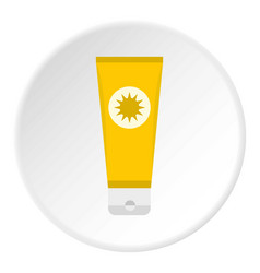 Sunscreen icon circle vector