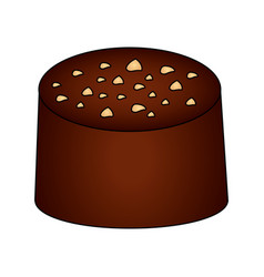 sweet cake chocolate isolated icon vector image