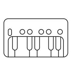 synthesizer piano icon outline style vector image
