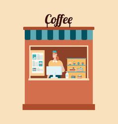 Take away food coffee and hygiene flat vector