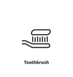 Toothbrush icon symbol vector