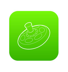 toy spinning top icon green vector image