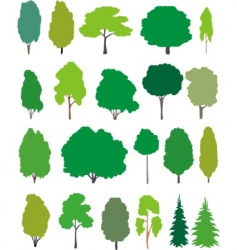 trees cartoon set vector image
