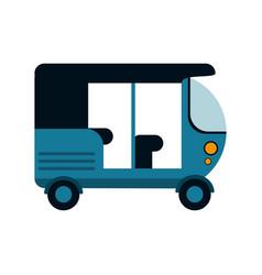 tuk tuk or rickshaw icon image vector image