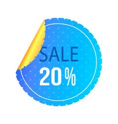 Twenty percent sale poster vector
