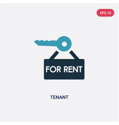 two color tenant icon from real estate concept vector image