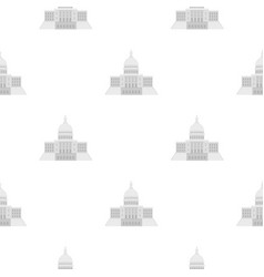 united states capitol icon in cartoon style vector image