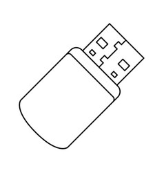 usb connection technology vector image