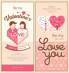Valentines collections design vector