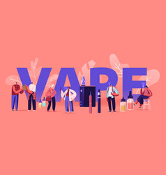Vape shop business and smoking addiction concept vector