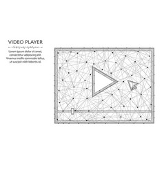 Video player low poly design play button in vector