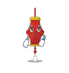 Waiting chinese paper lanterns on cartoon vector