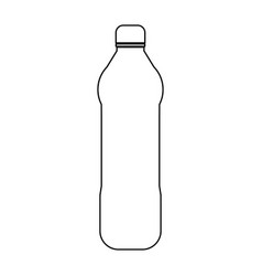 water plastic bottle the black color icon vector image