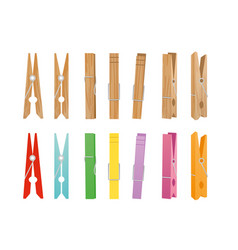 wooden and clothespin vector image