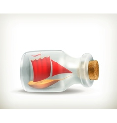 Boat in a bottle icon vector image vector image
