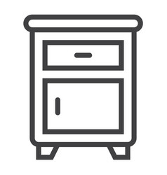 nightstand line icon furniture and interior vector image vector image