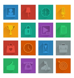 square media icons set 4 vector image vector image