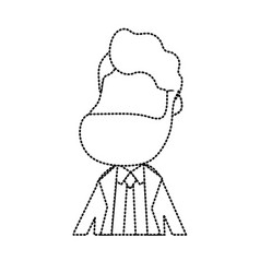 dotted shape happy groom with hairstyle and vector image vector image