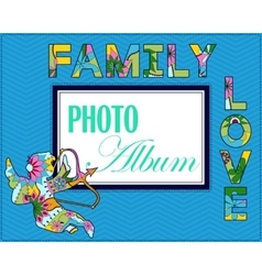 Family weddng album cover vector image