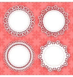 Lacy frames on the red background vector